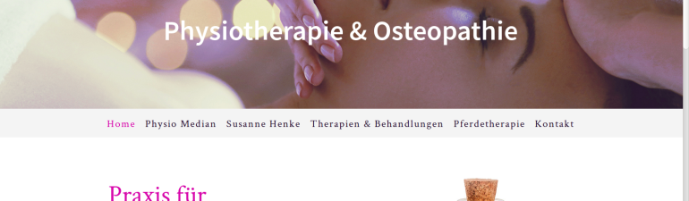 Website für Physiotherapeutin