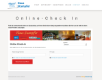 online check in